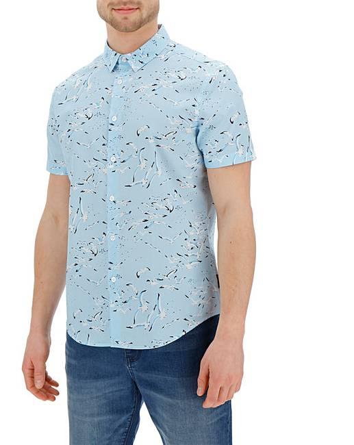 1bba8efb746e Peter Werth Seagull Print Shirt Long