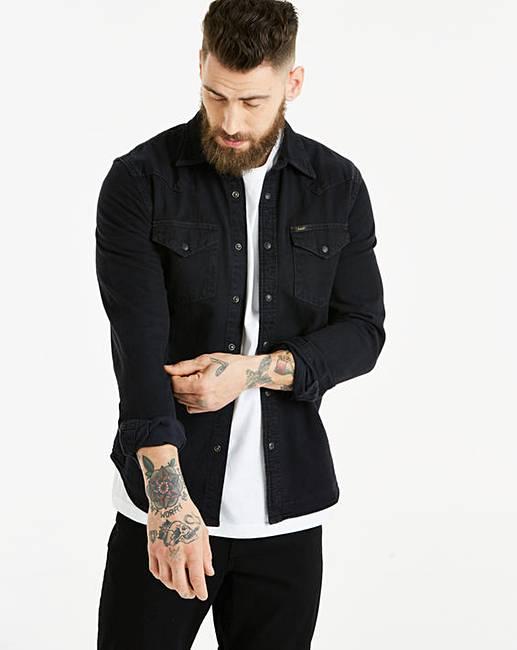 e4ff116c Lee Black Western Shirt | Jacamo