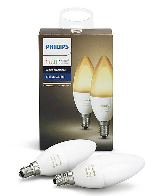 Philips Hue Lampen E14.Philips Hue White Colour E14 Twin Pack Fashion World
