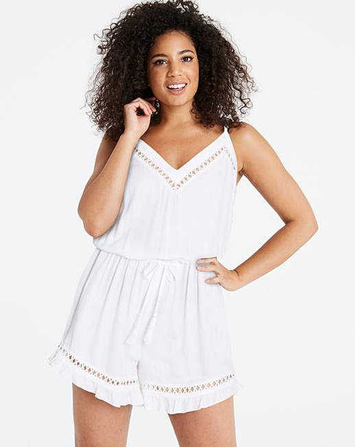 65b3767e9dbc Simply Yours White Beach Playsuit