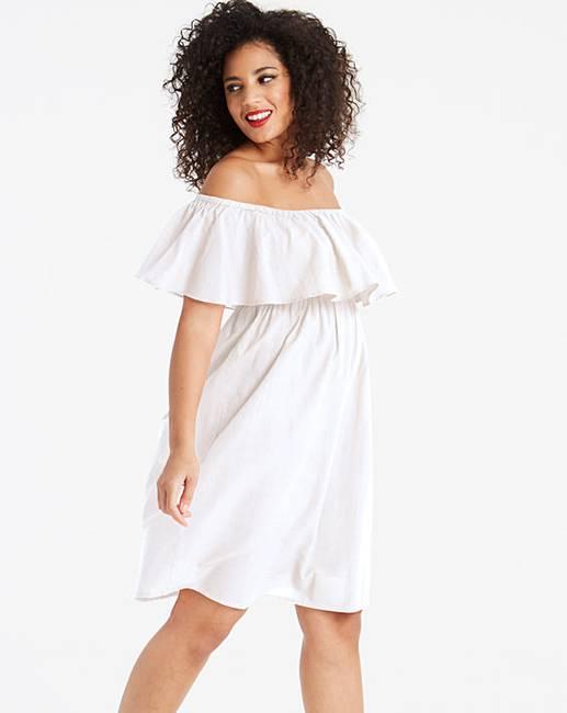 70ac4f31448e7 Bardot White Beach Dress | Simply Be