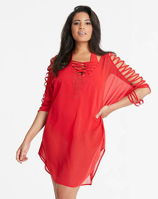 8690d7cc2e30c Figleaves Curve Knotted Kaftan | Simply Be