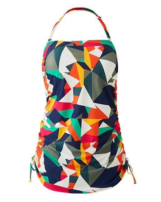 Simply Yours Adjustable Bandeau Swimsuit by Simply Be