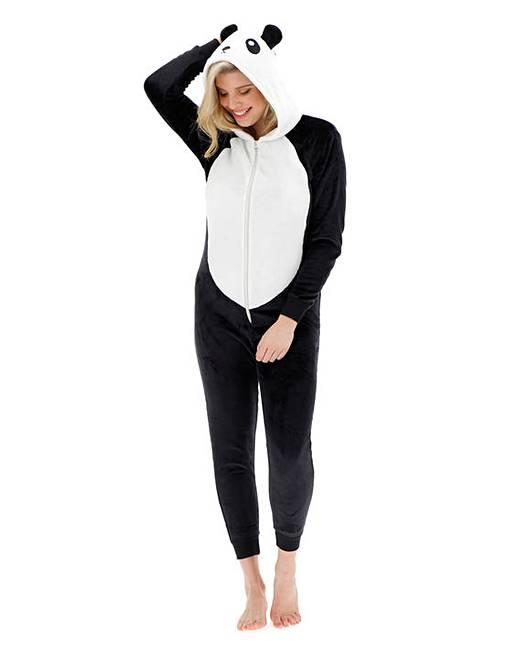 Panda Fleece Onesie Simply Be