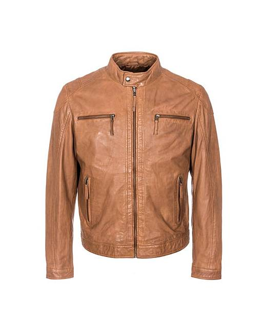 woodland leather biker jacket jacamo