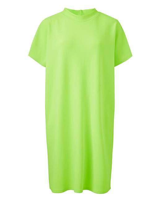 9dbaa8ee748e Neon Lime T Shirt Dress