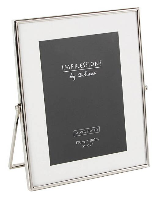 Impressions Silverplated Photo Frame 5x7 | J D Williams