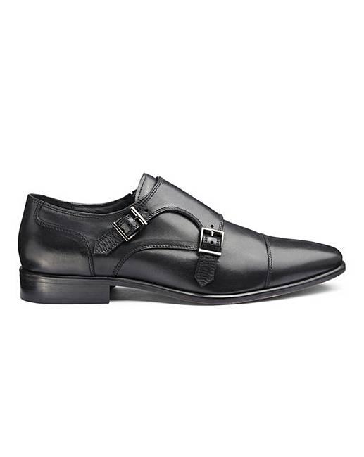 cde563f8c9092 Jacamo Premium Leather Double Monk Shoes | Jacamo