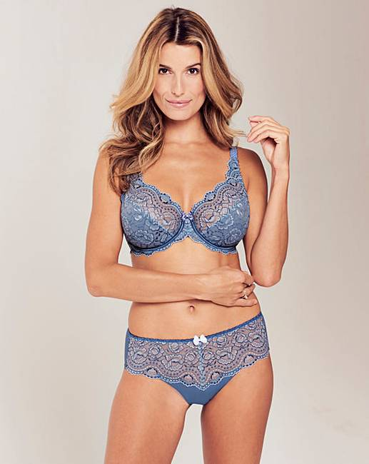 85471e3ad7 Playtex Flower Lace Full Cup Blue Bra