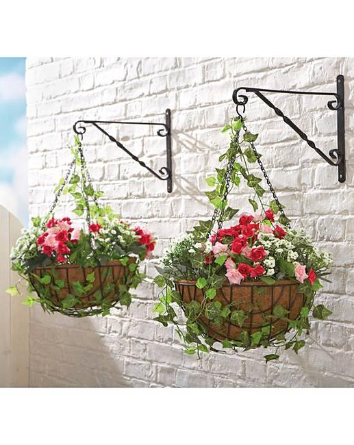 Uitzonderlijk Roses Ready Made Hanging Basket   House of Bath HR65