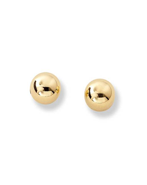 593a2d2388c7db 9 Carat Gold Small Ball Stud Earrings | Fashion World