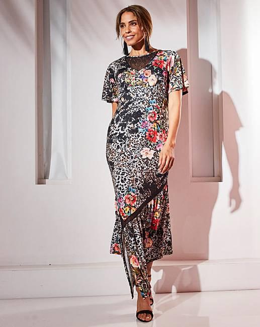 5f02b90505 Joanna Hope Print Maxi Dress | J D Williams
