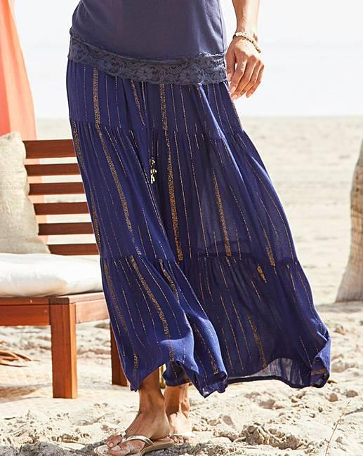 b6b856c249c9 Joanna Hope Crinkle Tiered Skirt | J D Williams