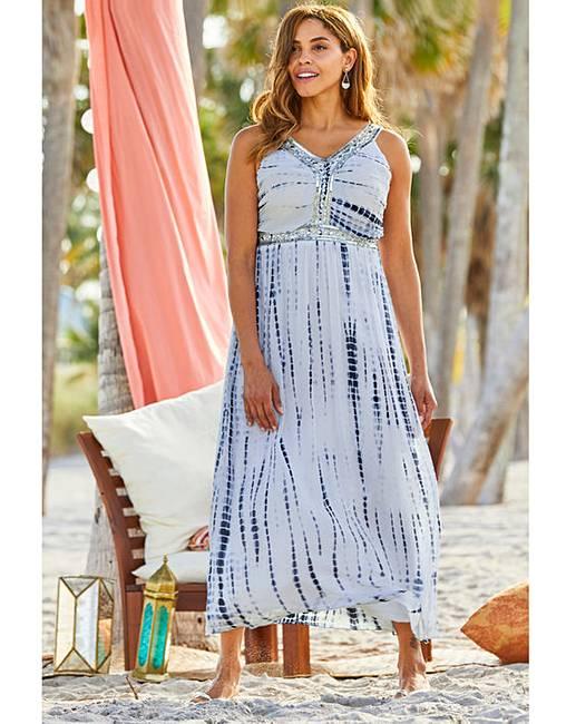 6f60ac8a24d6 Joanna Hope Tie Dye Maxi Dress | J D Williams