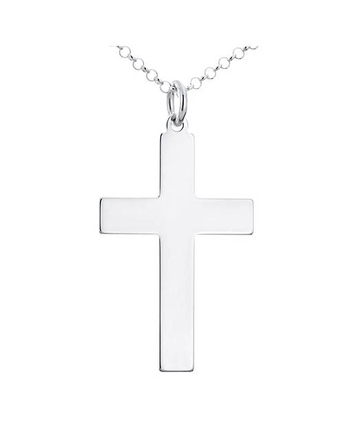 Sterling Silver Cross Pendant With Chain Approximately 1/4 Ounce