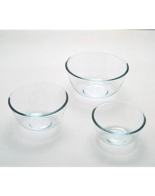 Pyrex Set of 3 Mixing Bowls  9a4f27d66fb