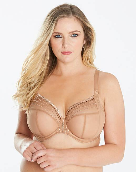 b58801207e079 Elomi Matilda Cafe Plunge Wired Bra | Simply Be