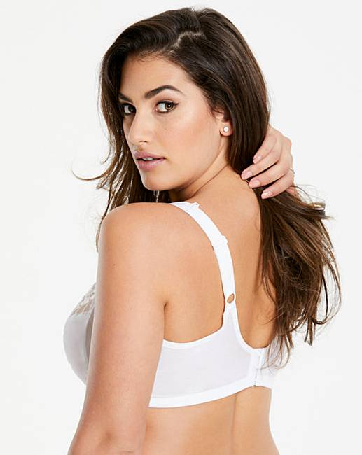 fac41aef0d6d5 Elomi Matilda White Plunge Wired Bra. Click to view  Elomi  products.  Rollover image to magnify