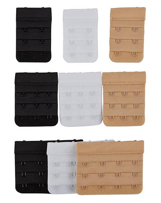 8161f985e30e1 Secret Weapons 3 Hook Bra Extenders (3 Pack) Assorted