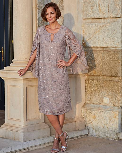 963812aa43ac Joanna Hope Sequin Stretch Lace Dress   J D Williams