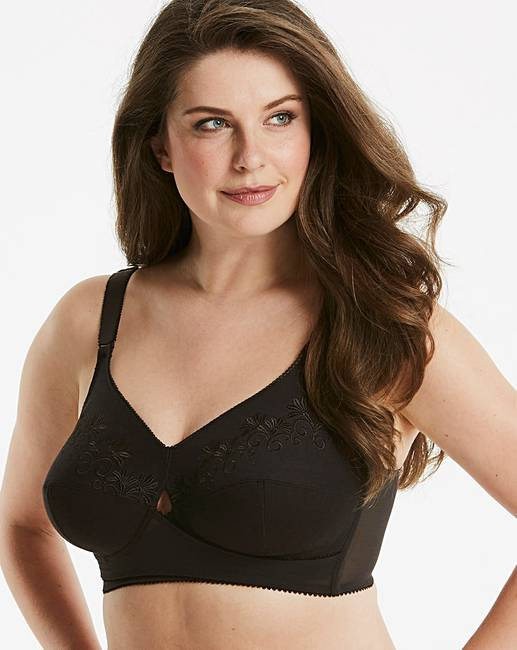 6222c43237f20 Berlei Total Support Black Cotton Bra