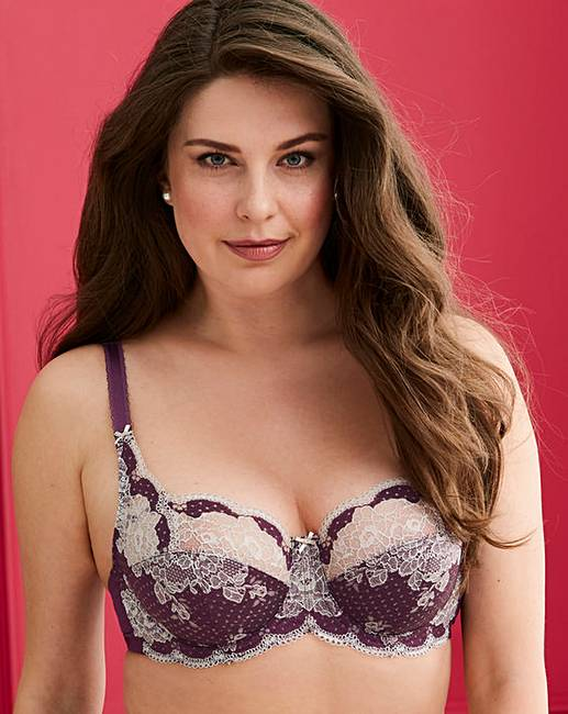 36914954dcbce Panache Clara Full Cup Plum Silver Bra. Click to view  Panache  products.  Rollover image to magnify