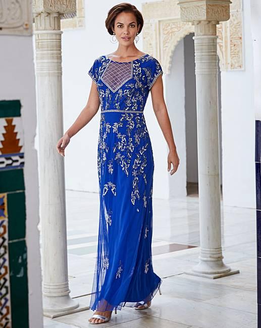 f07deea1e1 Joanna Hope Beaded Maxi Dress