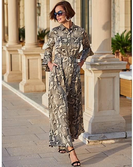 0f1e364c0 Joanna Hope Snake Print Maxi Dress   J D Williams