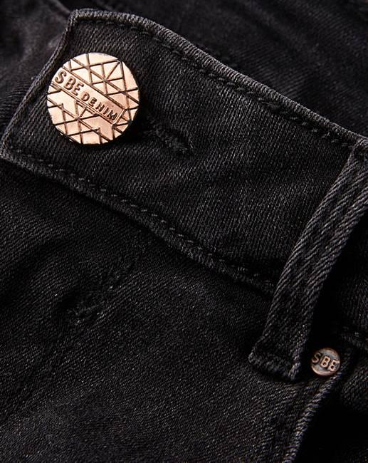 8c7fcc7e00e Petite Washed Black Chloe High Waist Ripped Super Soft Skinny Jeans