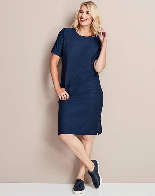 f2a50ee357 Premium Jersey Denim Shift Dress