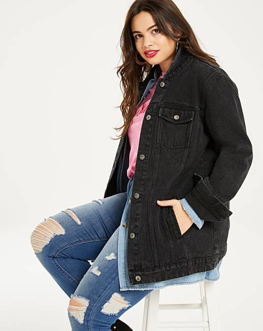 Black Oversized Denim Jacket Simply Be
