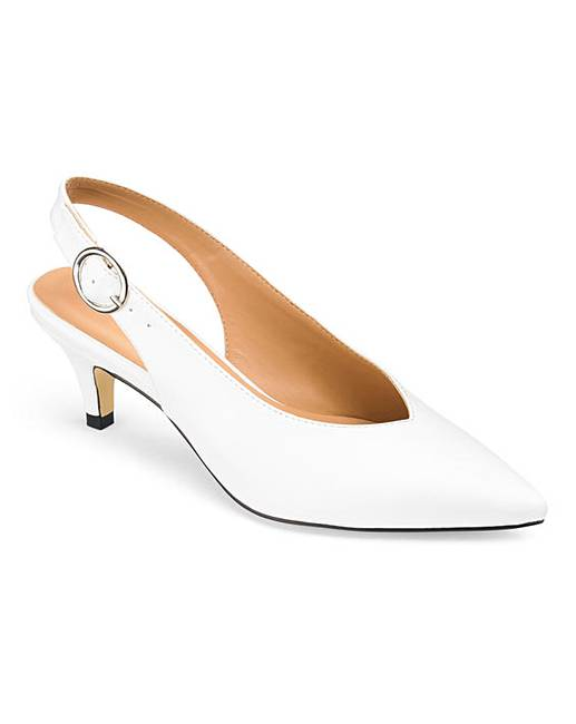 027bd75a3f Tilda Slingback Kitten Heel Extra Wide EEE Fit. Click to view 'Simply Be'  products. 5 people have looked at this in the last couple of hours.