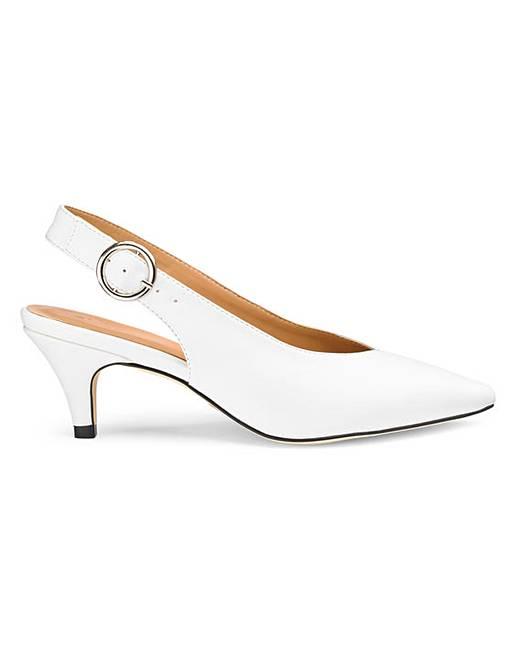 c444691229 Tilda Slingback Kitten Heel Ex Wide Fit | Simply Be