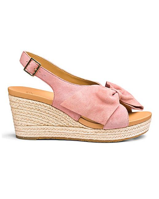 a7f744bc91d Ugg Camilla Suede Bow Espadrille Wedge