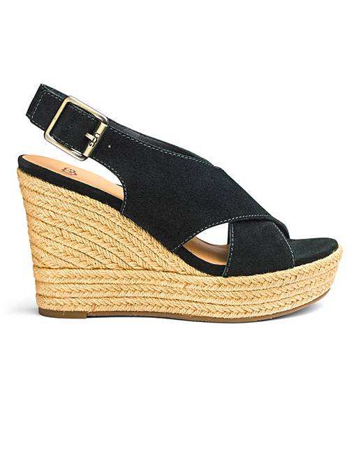 88b4891221 Ugg Harlow Suede Espadrille Wedge | Fashion World