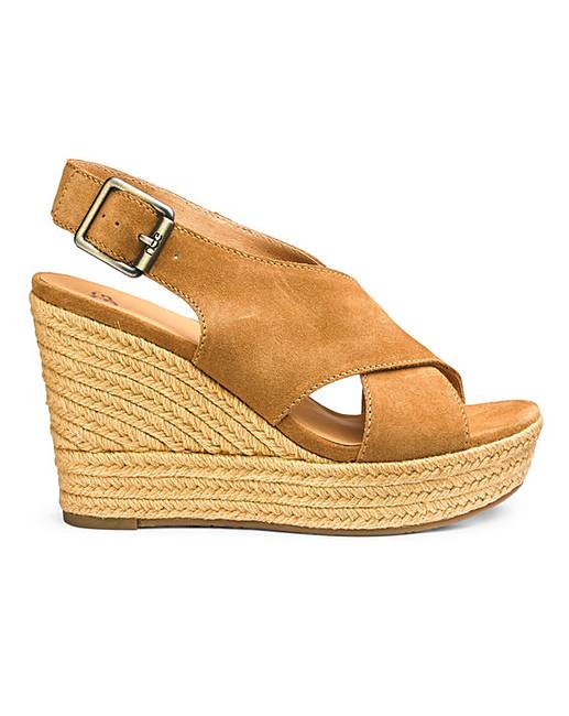 88d7826045 Ugg Harlow Suede Espadrille Wedge | Simply Be