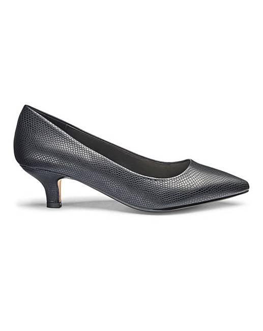 d405af9ab9b Kitten Heel Court Shoes EEE Fit