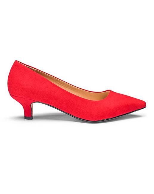 cc774c9e4c6 Kitten Heel Court Shoes EEE Fit