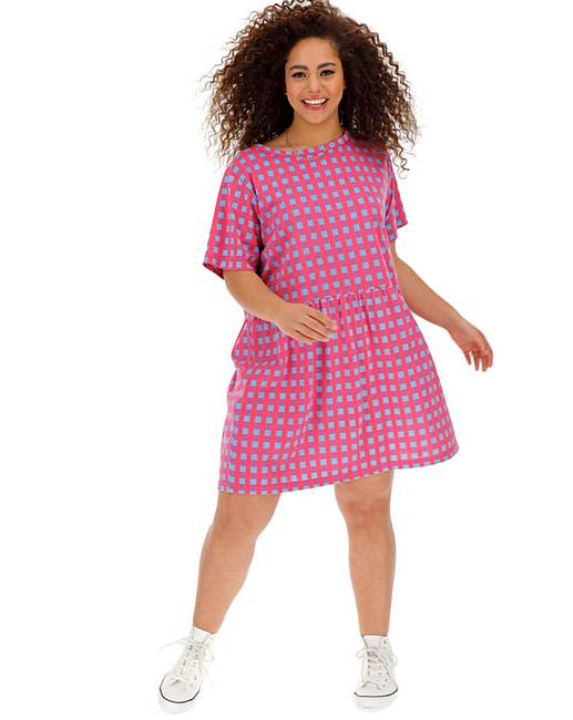 Daisy Street Check Smock Dress