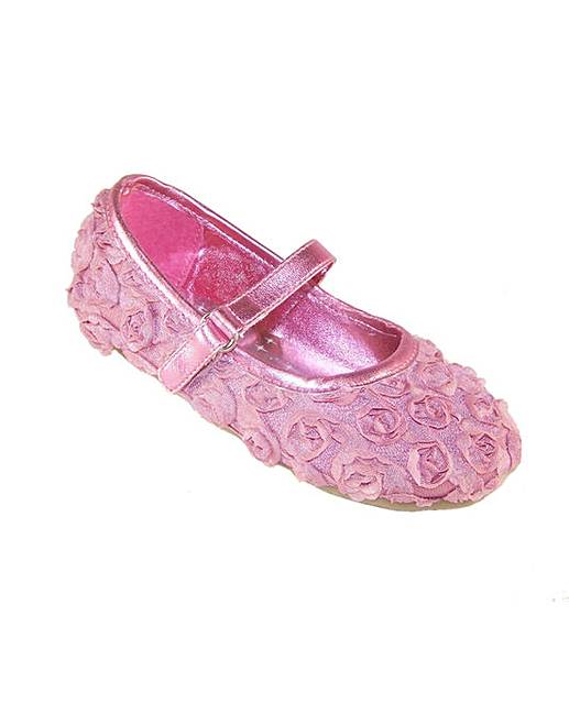 Sparkle club pink flower shoes ambrose wilson sparkle club pink satin shoes with net flowers mightylinksfo
