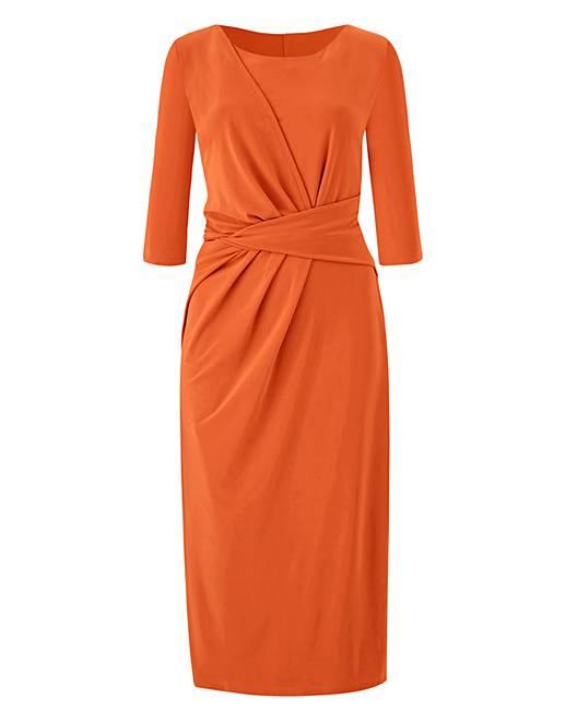 54ab18da6b1 Orange Twist Knot Dress