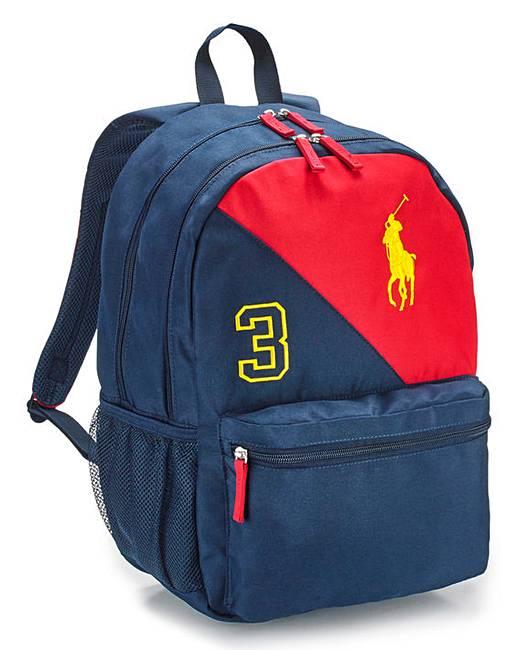 4f11d7edea816 Ralph Lauren Boys Banner Stripe Backpack