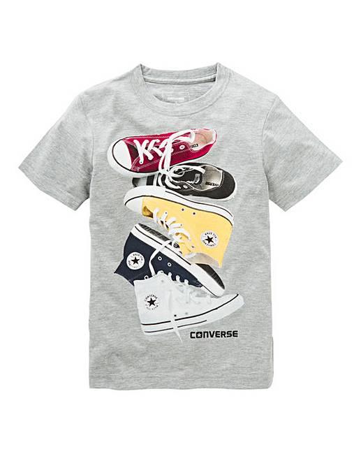 eb291e497d1ee8 Converse Boys Chucks Stacked T-Shirt