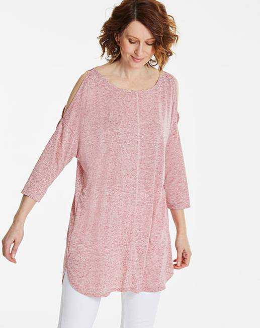 8cd9f4ca Linen Cold Shoulder Tunic | Oxendales