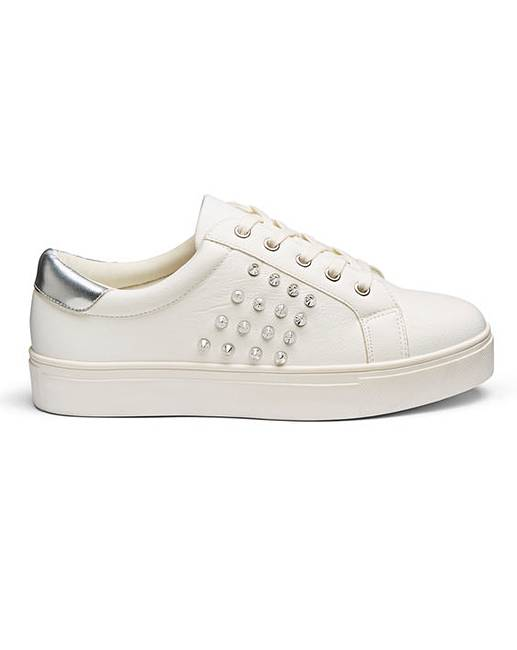 446ab5598f18e Vita Studded Trainer Extra Wide Fit   Oxendales