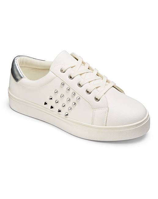 08f9837043a82 Vita Studded Trainer Extra Wide EEE Fit. Click to view 'Simply Be'  products. Rollover image to magnify