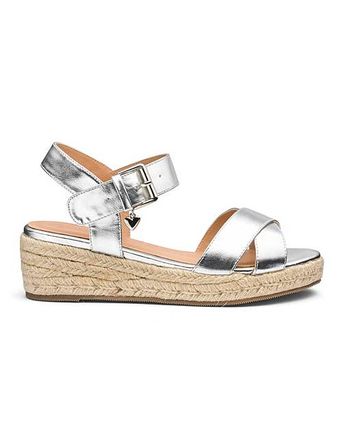 5443489d2d80 Frankie Espadrille Wedges Extra Wide Fit