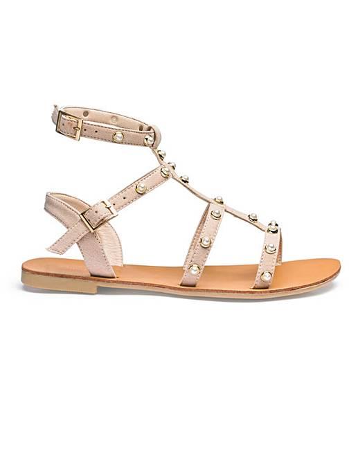 da4ae9a20a6 Haley Gladiator Sandals Extra Wide Fit