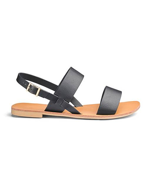 0dcc6e9124144b Jade Two Strap Sandals Extra Wide Fit