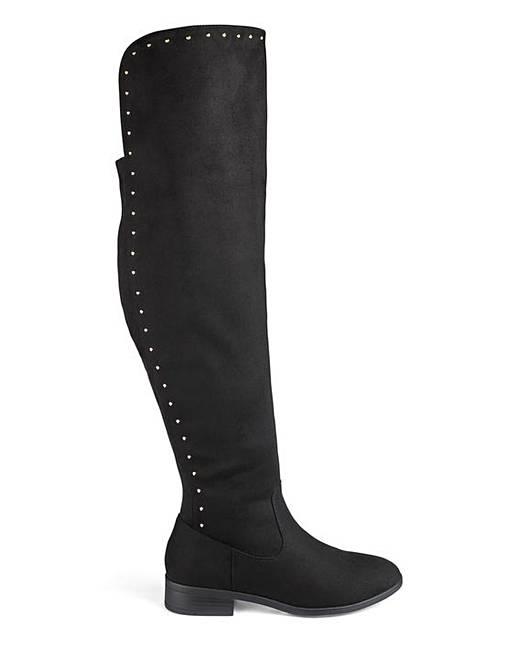 12499f0d620 Kimora Boots Wide Fit Super Curvy Calf